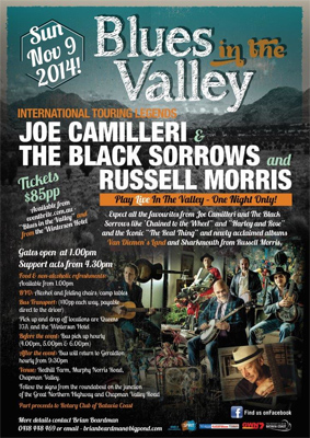 Blues in The Valley WA 2014